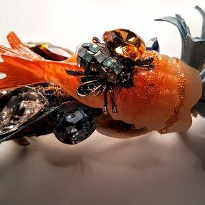 Wendy Gell Sushi and Tin Leaf Barrette  Jeweled